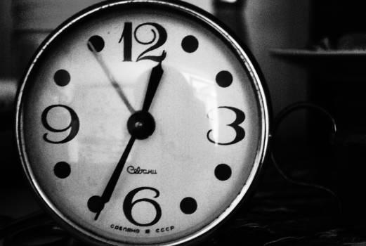 black and white clock  #20250