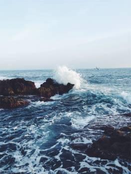 waves ocean sea  Free Photo