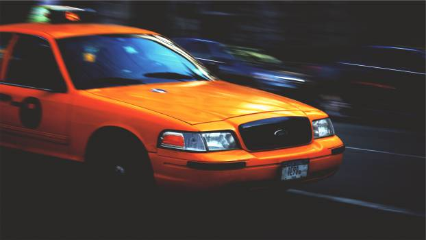 yellow taxi cab  #20307