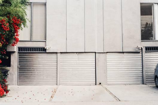 garage doors driveway flowers  #20322