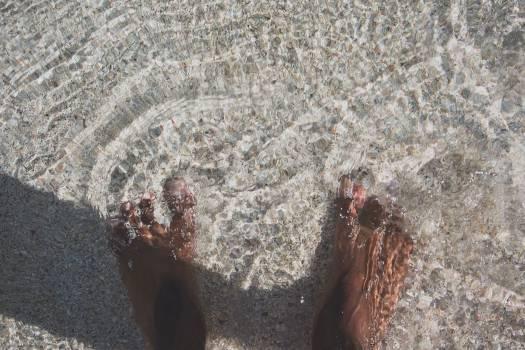 feet barefoot toes  Free Photo