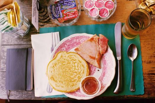 breakfast pancakes ham  #20325