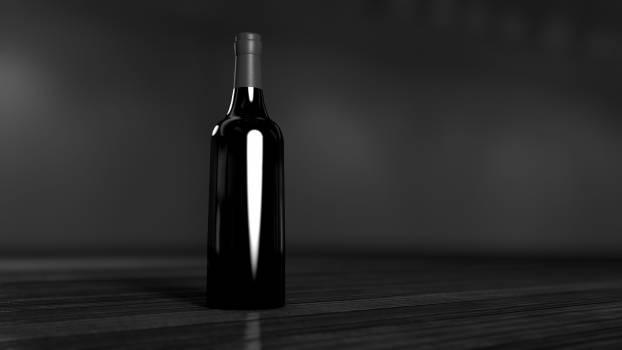 bottle black dark  #20339