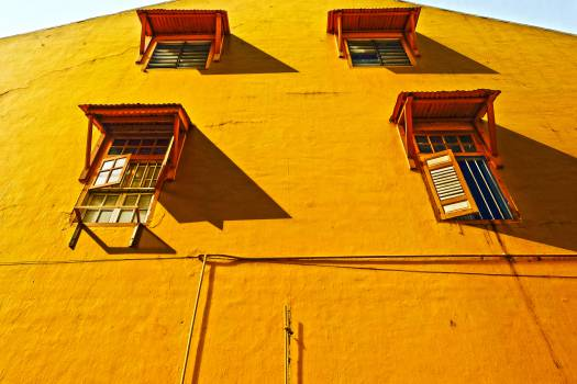 yellow wall building  #20356