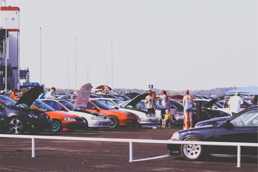 cars car show parking lot  #20372