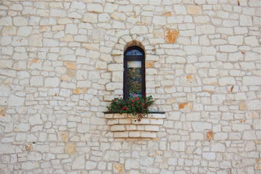 stones wall window  #20420