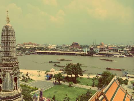 bangkok thailand river  Free Photo