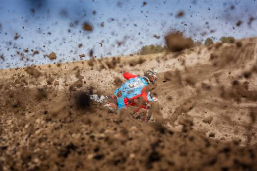 dirt bike racer racing  #20454