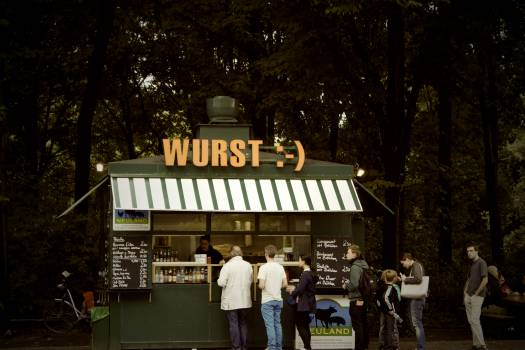 wurst sausage food stand  #20457