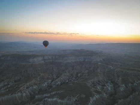 hot air balloon landscape nature  Free Photo