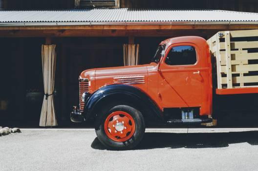 truck orange red  #20494