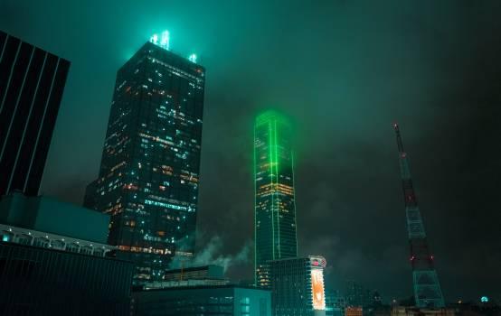 Skyscraper City Night #205412