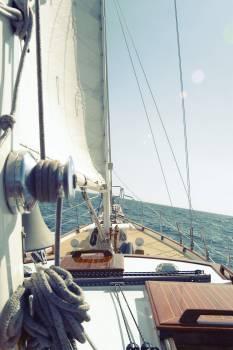 sailboat sailing deck  Free Photo