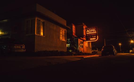 motel sign street  #20665