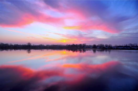 pink sunset dusk  #20678