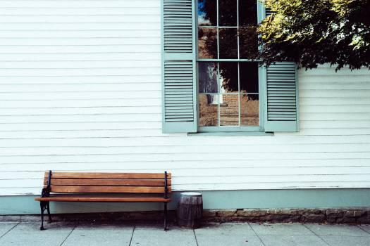 wood bench siding  #20686