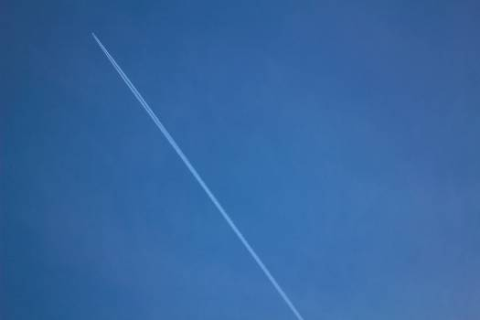 airplane contrails blue  #20730