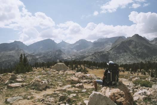 mountains hiking hike  Free Photo