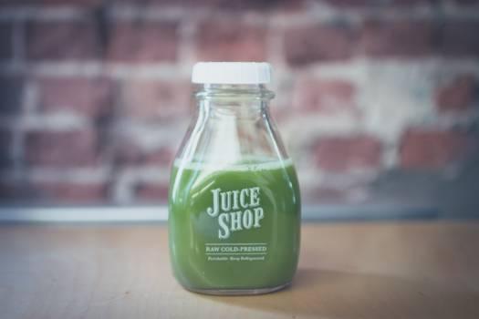 green juice bottle  #20765