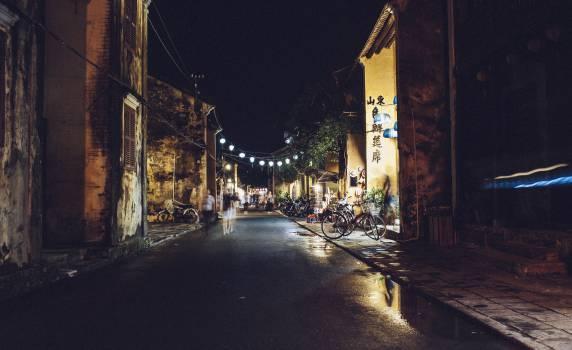 dark night asian  Free Photo