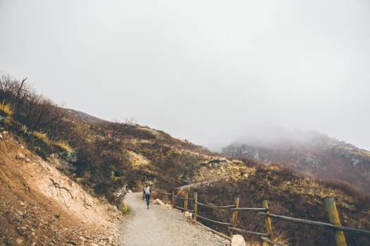 hiking trekking outdoors  Free Photo