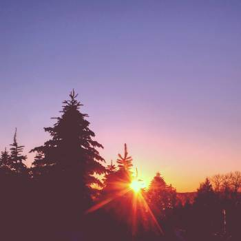purple sky sunset  Free Photo