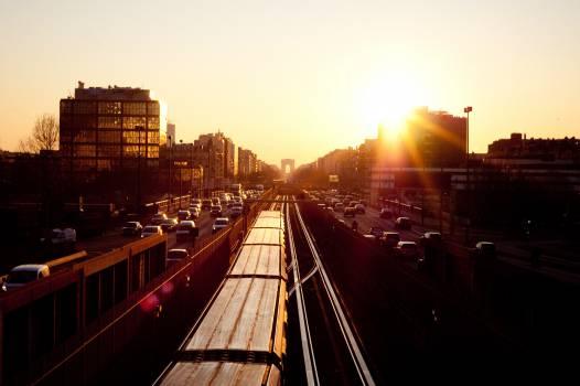sunset sky buildings  #20886