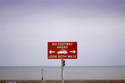 beach footway sign  #20896