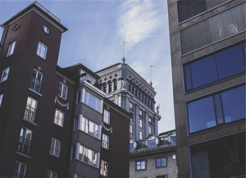 buildings condos apartments  Free Photo