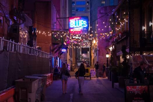Night City Building Free Photo
