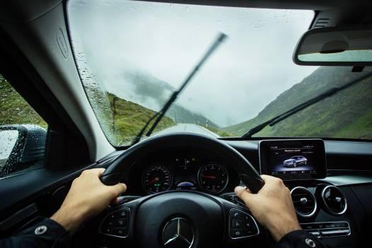 Car Windshield Steering wheel Free Photo