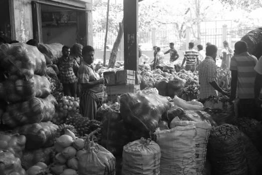 market fruits vegetables  Free Photo