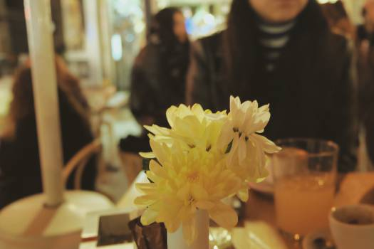 restaurant table flowers  #20975