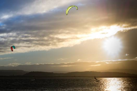 kite boarding kite surfing lake  #20992