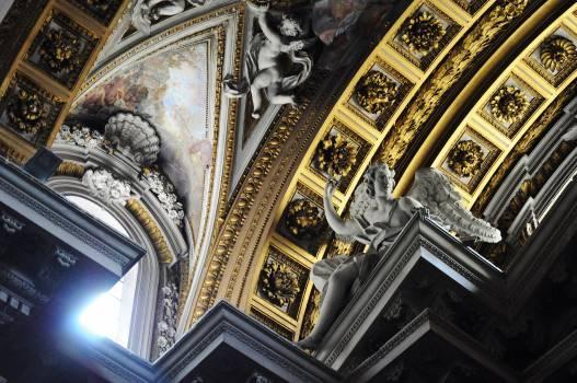 catholic church ceiling  Free Photo