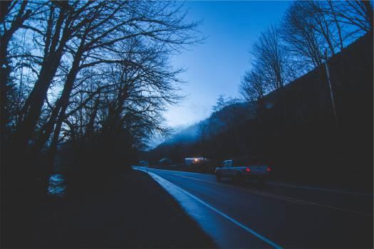 truck driving night  Free Photo