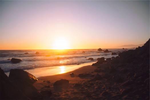 sunset beach sand  #21076
