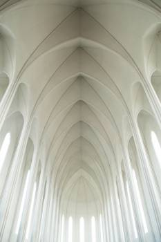 white church arches  #21115
