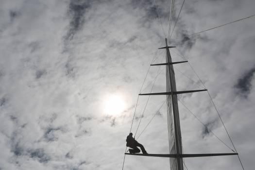 mast sailboat sailing  Free Photo