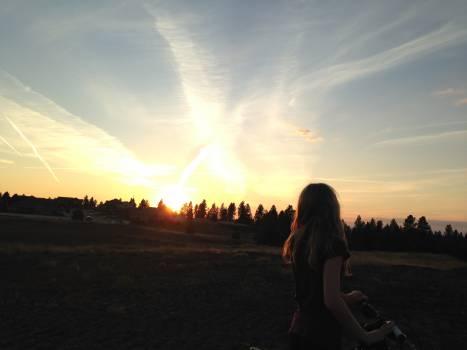 sunset girl woman  Free Photo