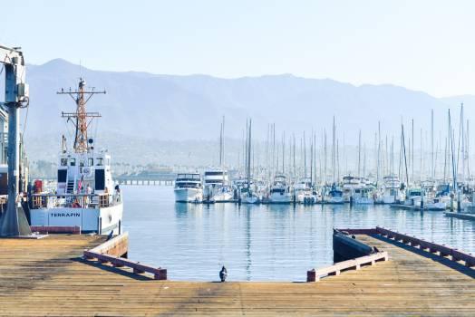 wood docks pier  Free Photo