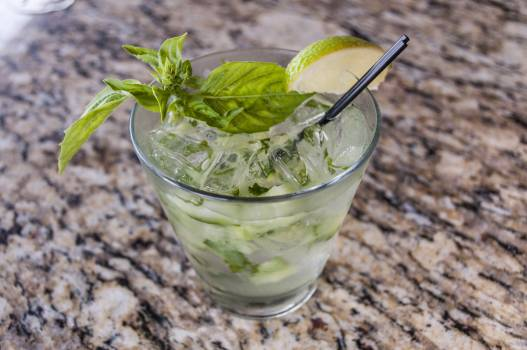 Mint Ice Glass Free Photo