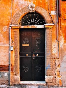door entrance stone  Free Photo