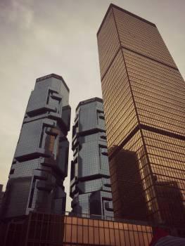 hong kong buildings architecture  Free Photo