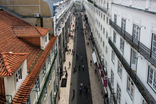 lisbon portugal street  Free Photo