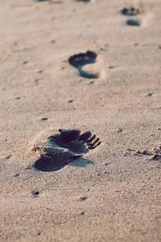 beach sand footprint  #21580