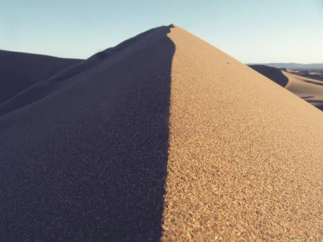 sand dunes desert  Free Photo