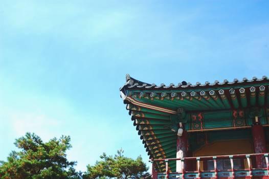 temple architecture blue  #21631
