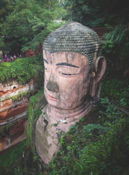 Leshan Giant Buddha culture statue  Free Photo