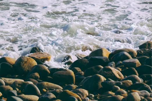 rocks shore ocean  #22006